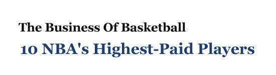 Highest-Paid Basketball Players