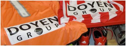 The Doyen Group officially sponsored Atlético Madrid during Falcao's inaugural season.