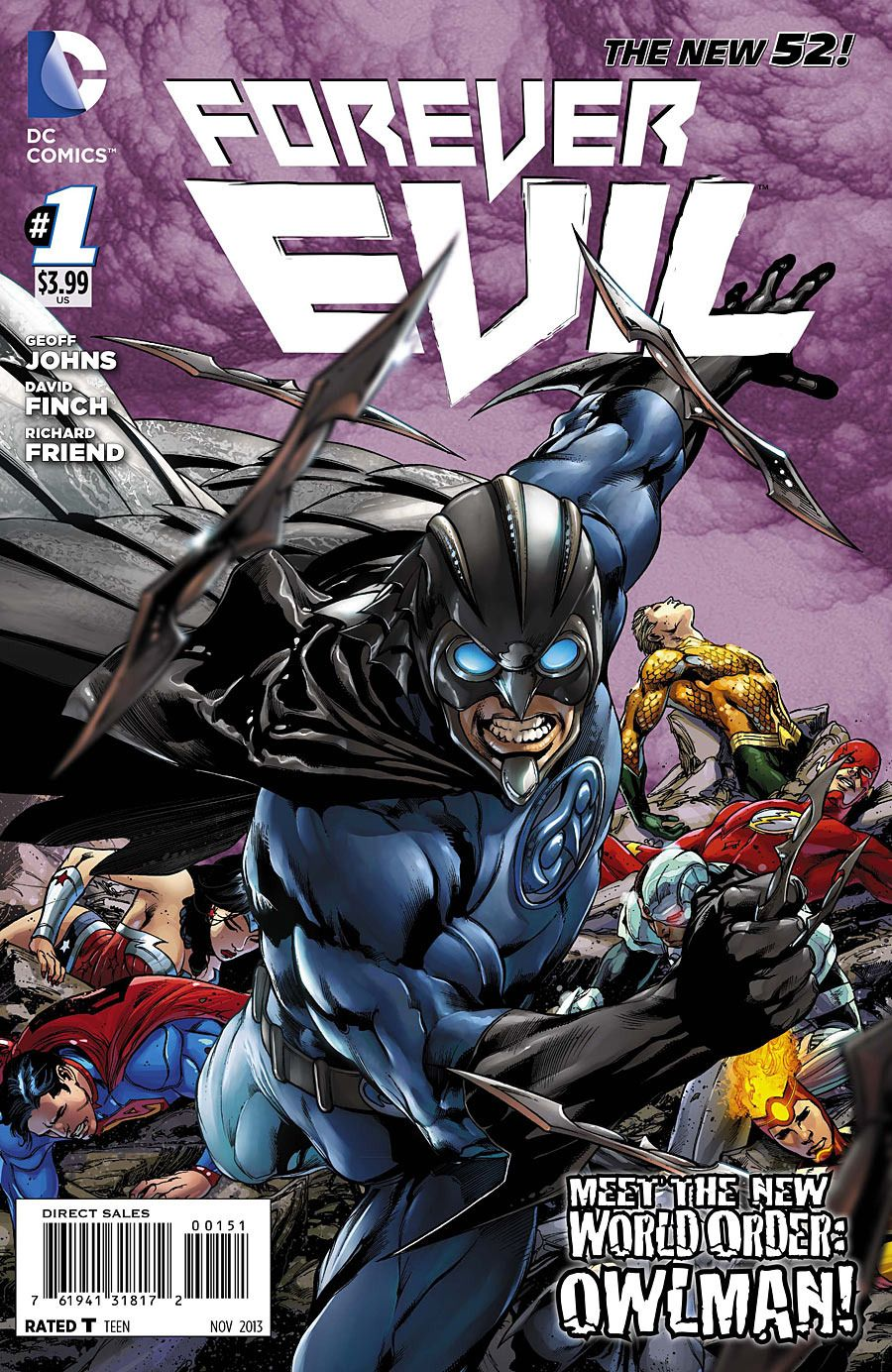 forever evil 1 Top 10 Most Sold Comic Books Of 2013 -top10s.biz