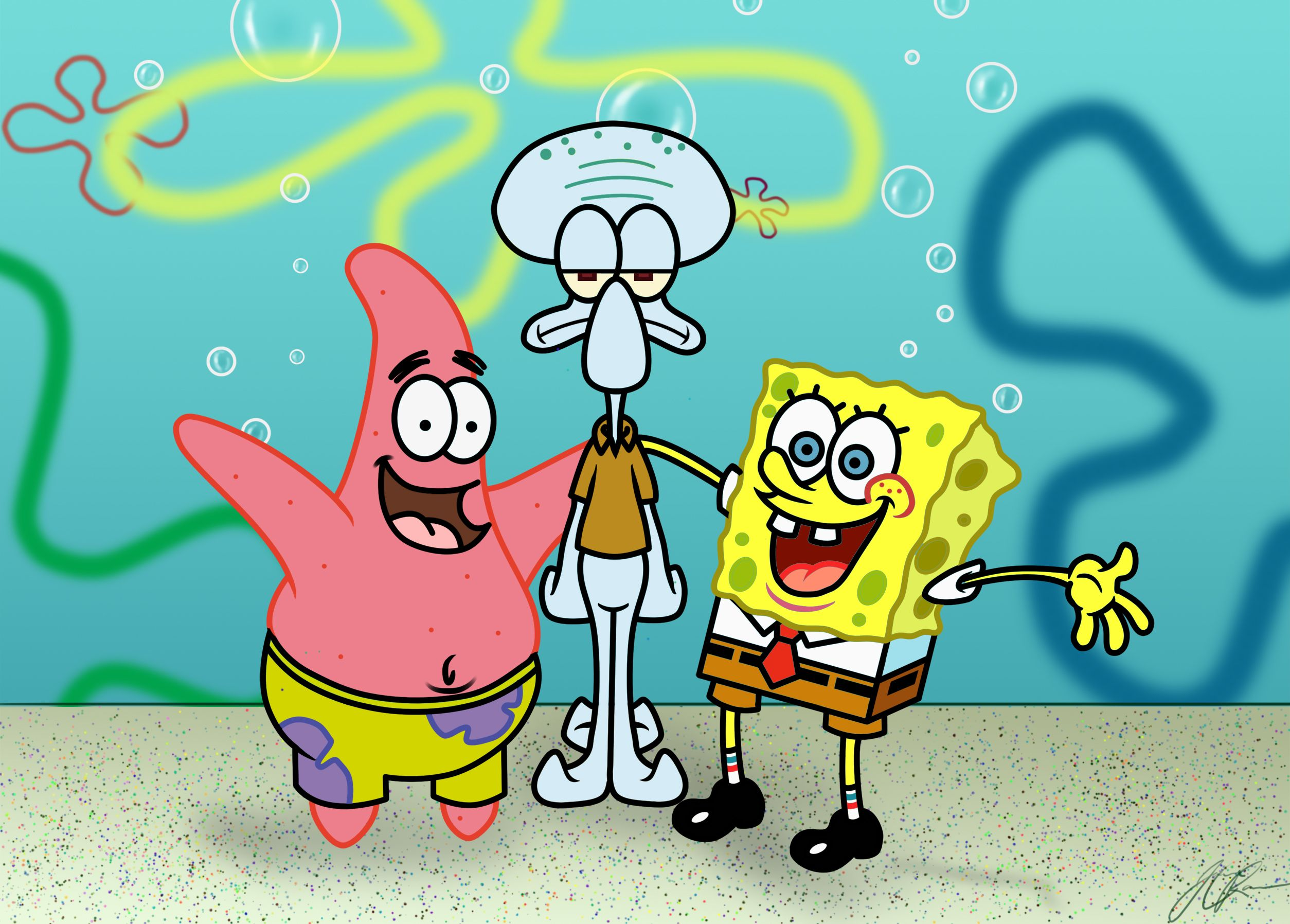 10. Watching SpongeBob SquarePants