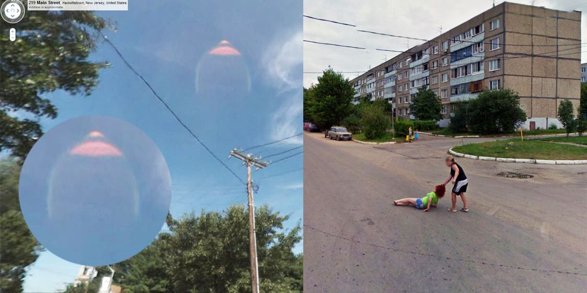 Scary Images Captured By Google Earth And Streetview