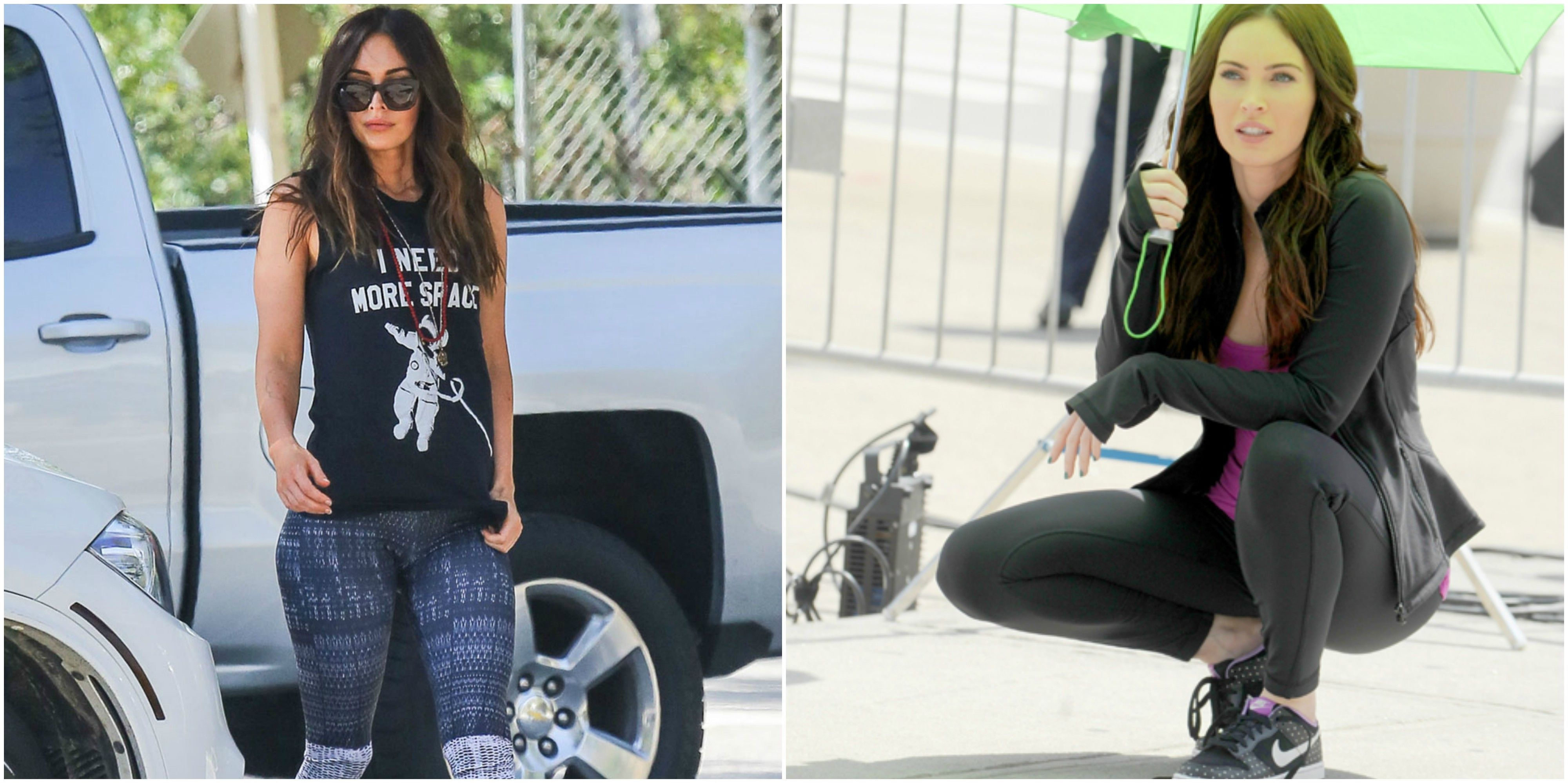 318d9086660 15 Photos That Prove Megan Fox And Fashionable Yoga Pants Were Created For  Each Other