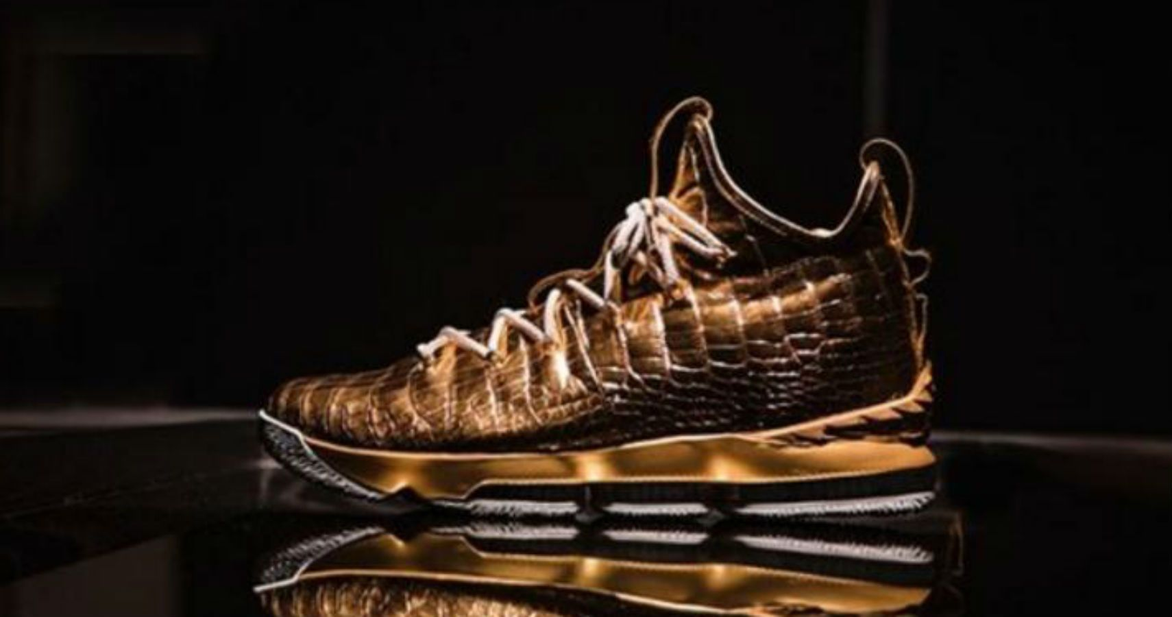 These One-Of-A-Kind LeBron 15s Are Studded With Gold & Diamonds